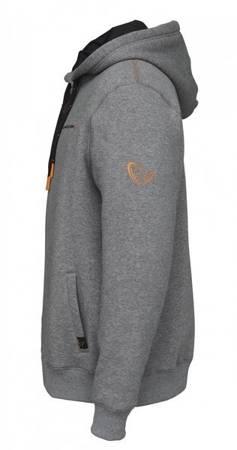 Bluza Wędkarska Savage Gear CLASSIC ZIP HOODIE GREY MELANGE