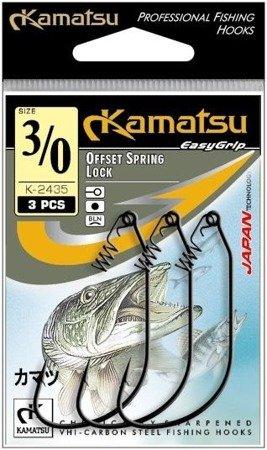 Kamatsu Haczyk Offset Spring Lock K-2435 4/0  Op.3szt