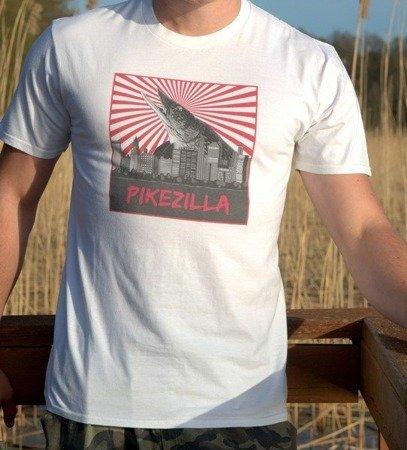 Koszulka Wędkarska T-Shirt ze Szczupakiem Wersja Pikezilla