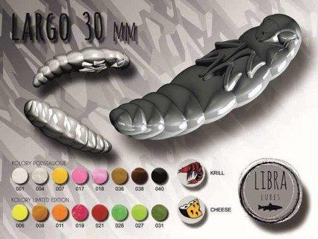 Libra Lures Largo 3cm Kolor 040 Black Zapach Cheese op.12szt