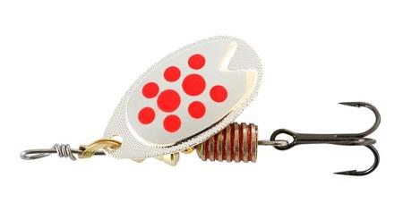 Obrotówka Abu Fast Attack 3 Silver/Red Dots