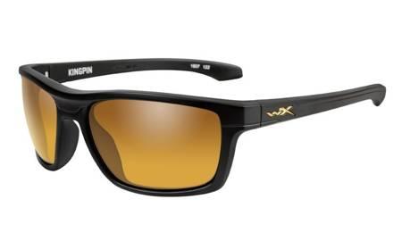 Okulary przeciwsłoneczne WileyX KINGPIN Polarized Gold Mirror Amber Lens Matte Black Frame